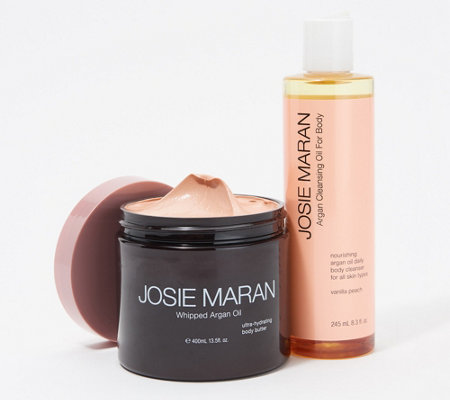 Josie Maran Illuminizing Body Butter & Cleansing Body Oil Set — QVC com