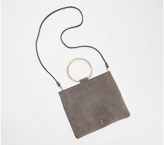 THACKER Leather Pouch with Hammered Ring Handle - Le Pouch
