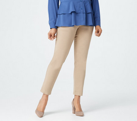 Joan Rivers Petite Slim-Fit Twill Ankle Pants