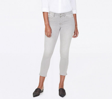 NYDJ Sheri Slim Ankle Jeans with Side Slits - Gale