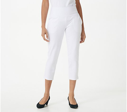 Women with Control Tall Tummy Control Crop Pants with Pockets
