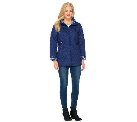 Susan Graver Packable Quilted Jacket with Detachable Hood