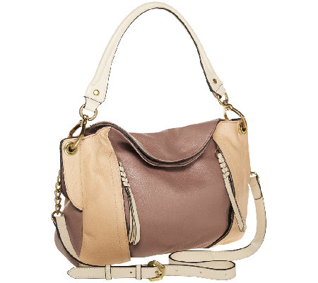 """As Is"" orYANY Danielle Italian Leather Convertible Shoulder Bag"