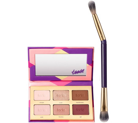 tarte Tartelette Tease Shadow Palette with D/E Brush