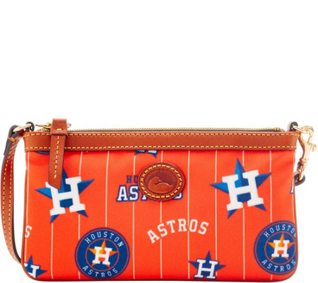 Dooney & Bourke MLB Nylon Astros Large Slim Wristlet