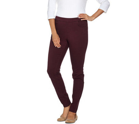 Denim & Co. Regular 5 Pocket Colored Denim Pull-on Jeggings
