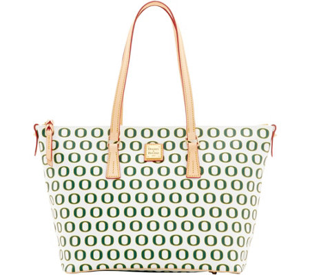 Dooney & Bourke NCAA University of Oregon Zip Top Shopper