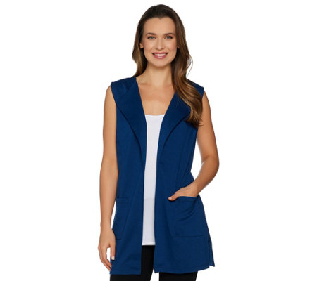 Joan Rivers Open Front Vest With Pockets