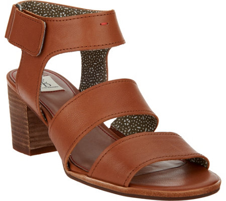 ED Ellen DeGeneres Triple Strap Leather Sandals - Tahni