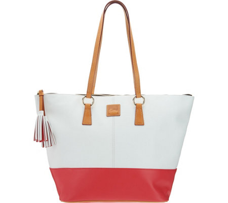 """As Is"" Dooney & Bourke Smooth Leather Tobi Tote"