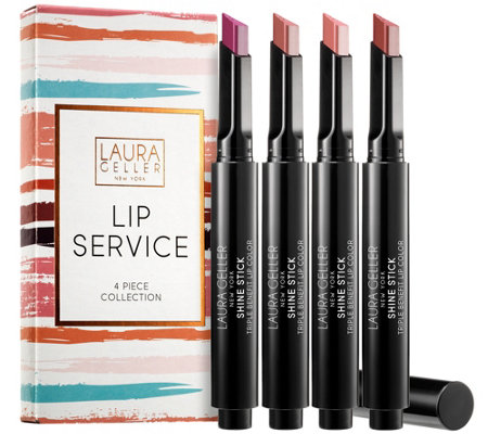 Laura Geller Lip Service Shine Stick 4-Piece Kit