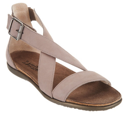Naot Leather Cross Strap Sandals Rianna