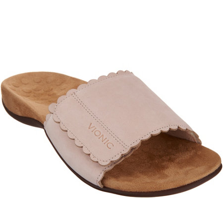 Vionic Leather or Nubuck Slide Sandals - Florence