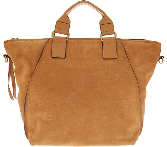 Vince Camuto Leather Tote Bag - Rosa