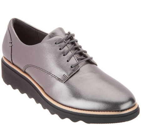 Clarks Collection Leather Lace-Up Shoes- Sharon Noel