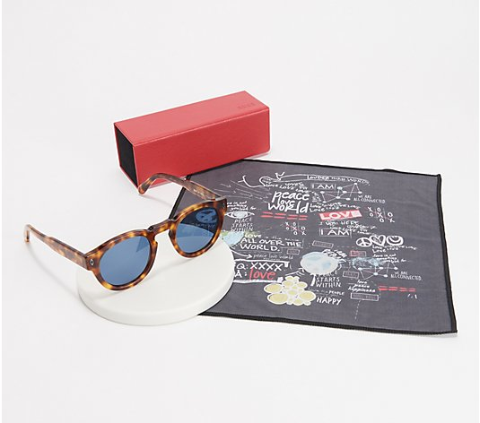 Peace Love World Reflective Mimi Sunglasses