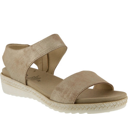 Spring Step Leather Two-Piece Sandals - Evi