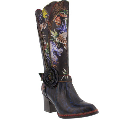 L'Artiste by Spring Step Leather Tall Boots - Savannah