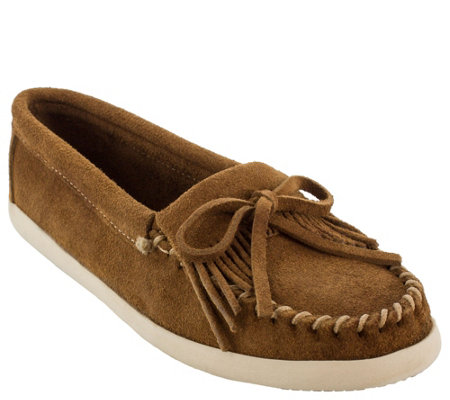 Minnetonka Leather Sneaker Kilty Moccasins - Newport Moc