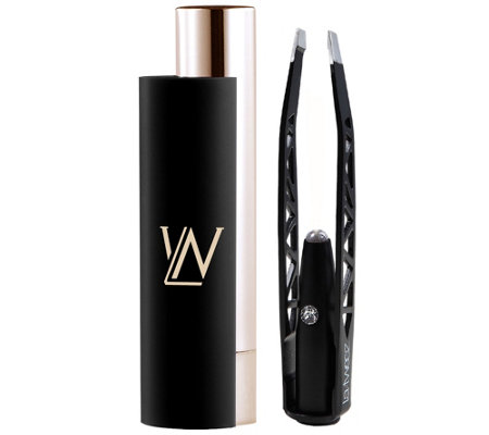 La-Tweez Plated Illuminating Tweezers & Mirrored Carry Case
