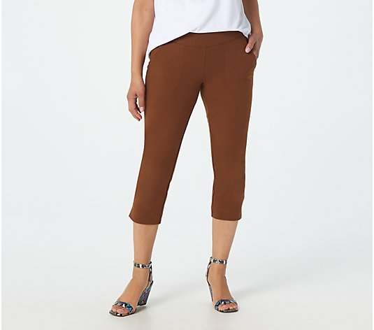 Wicked by Women with Control Tall Capri Pants w/ Pockets & Slits