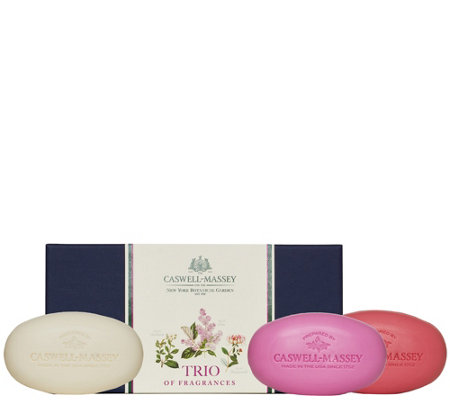 Caswell-Massey Set of 3 Assorted Floral Bar Soaps