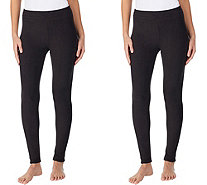 Cuddl Duds 2-Pack Fleecewear with Stretch Leggings - A418458