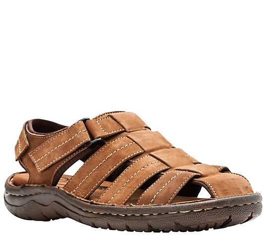 Propet Men's Leather Fisherman Sandals - Joseph