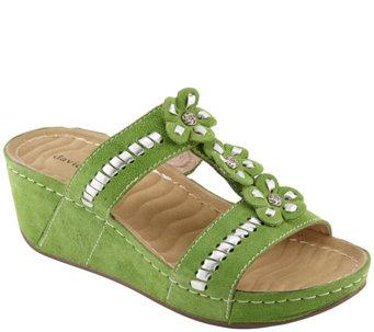 39aa0691a59 David Tate Wave Tech Comfort Wedge Sandals - Myrna - A424358