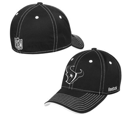... undefeated x b891e 6f12c NFL Houston Texans Black White Structured Flex  Fit Hat ... c5e52d504