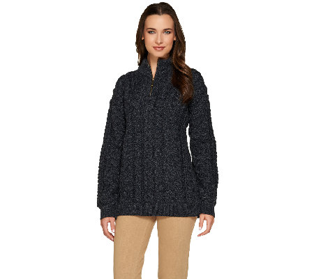 Kilronan Unisex Wool 1/2 Zip Sweater