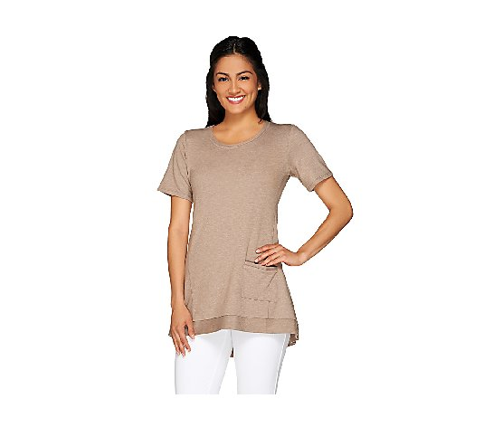 LOGO Lounge by Lori Goldstein French Terry Knit Top with Pocket