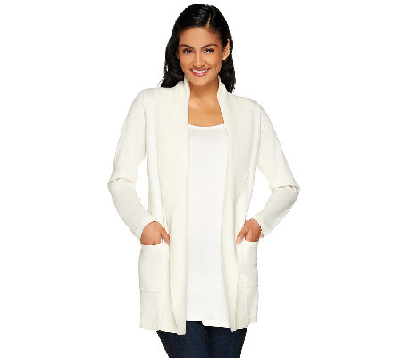 Isaac Mizrahi Live! Essentials Shawl Collar Cardigan