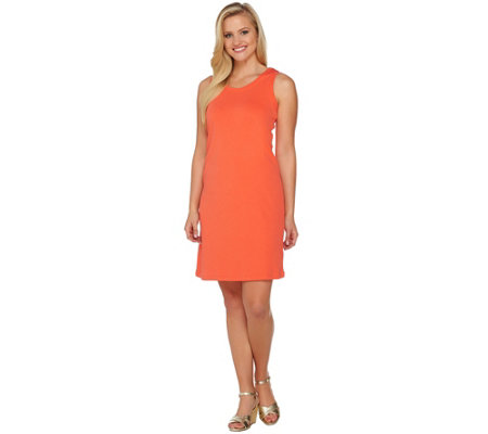 Isaac Mizrahi Live! Essentials Scoop Neck Tank Dress