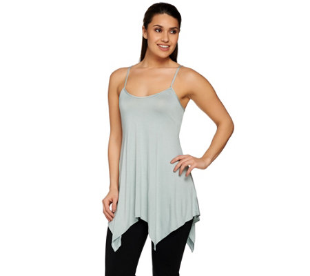 """As Is"" LOGO Layers by Lori Goldstein Knit Tank with Trapeze Hem"