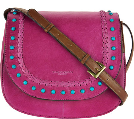 Tignanello Vintage Leather Saddle Bag