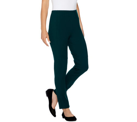 Women with Control Petite Slim Leg Ankle Pants w/ Front Seam Detail