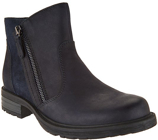 Earth Vintage Leather Side Zip Ankle Boots - Jordan
