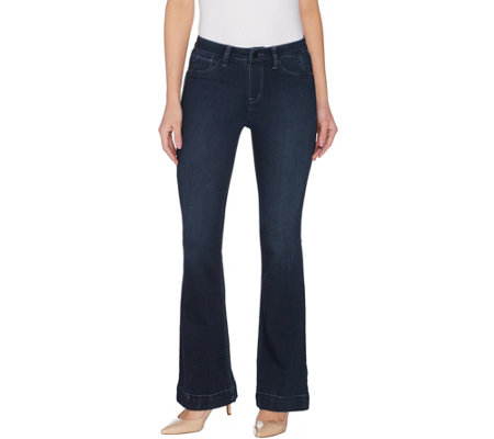 Laurie Felt Regular Silky Denim Flare Pull-On Jeans
