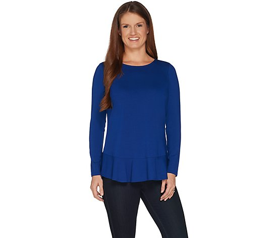 Linea by Louis Dell'Olio Soft Peplum Knit Top