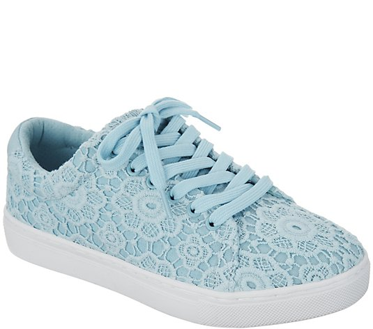 Isaac Mizrahi Live! Crochet Lace-Up Sneakers