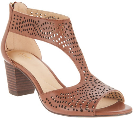 Clarks Artisan Perforated Leather Sandals - Deloria Liv