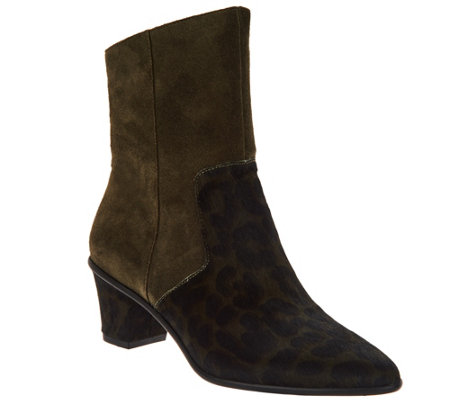 """As Is"" Lori Goldstein Collection Side Zip Pointed Toe Booties"