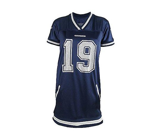 NFL Miles Austin Womens Naomi Jersey Dress - QVC.com