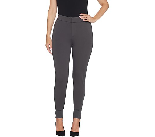 Lisa Rinna Collection Ponte Pant with Ankle Detail