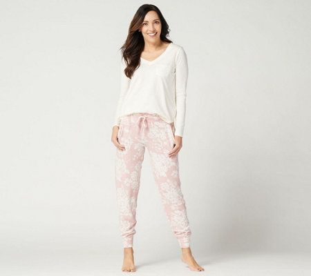 Splendid Long Sleeve Top and Jogger Pajama Set