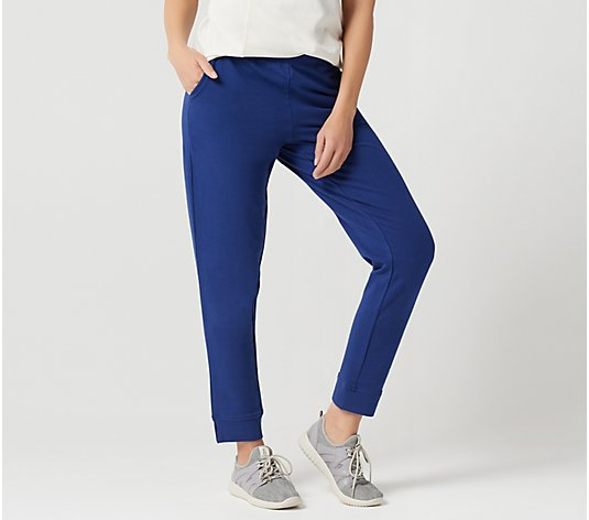 Denim & Co. Active Pull-On French Terry Ankle Pants