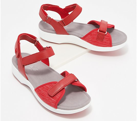 TRAQ by Alegria Adjustable Leather Sandals- Qali
