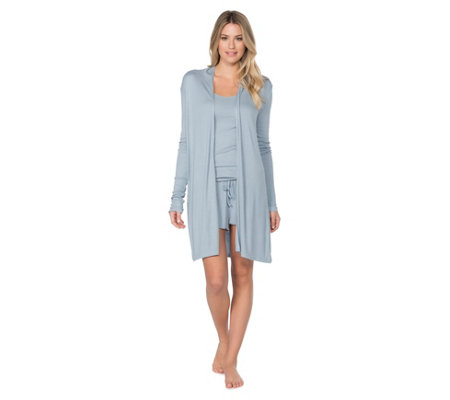 Barefoot Dreams Luxe Ribbed Jersey Long Cardi