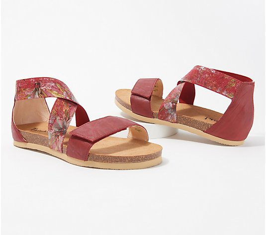 Think! Leather Strap Sandals - Shik